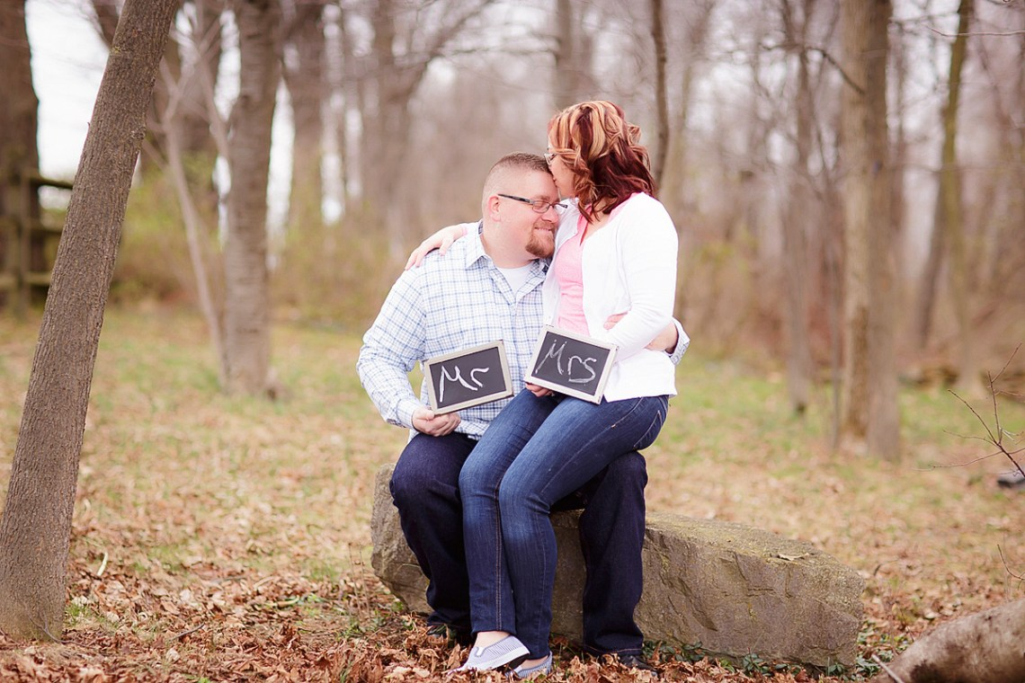 Engagement Photographers Reading PA mr mrs signs