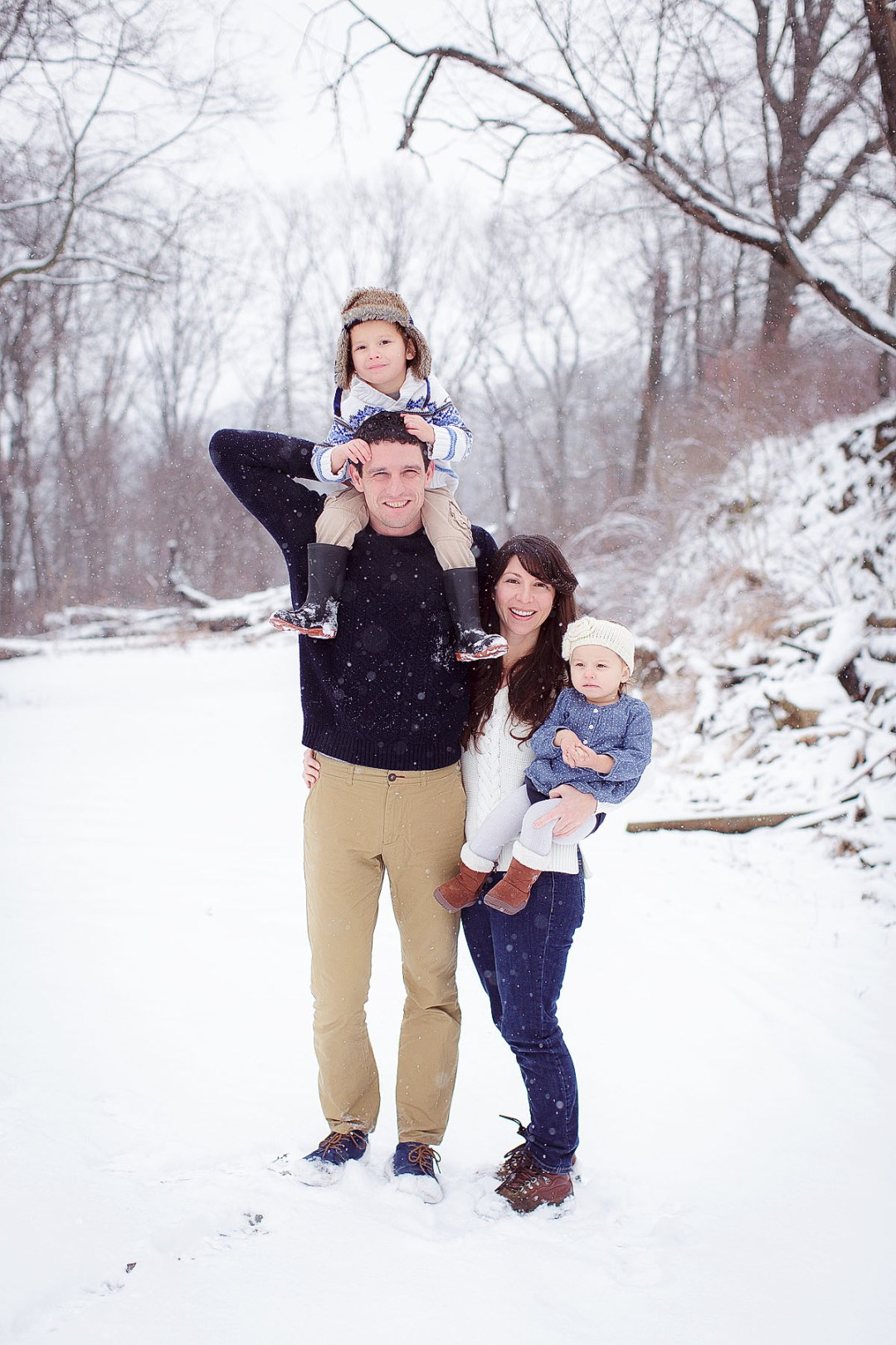 Reading PA Family Photo in the snow