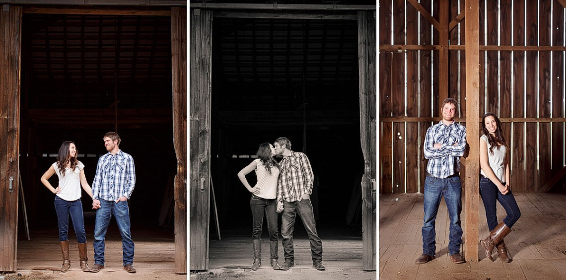 engagement session at barn schulykill county photography