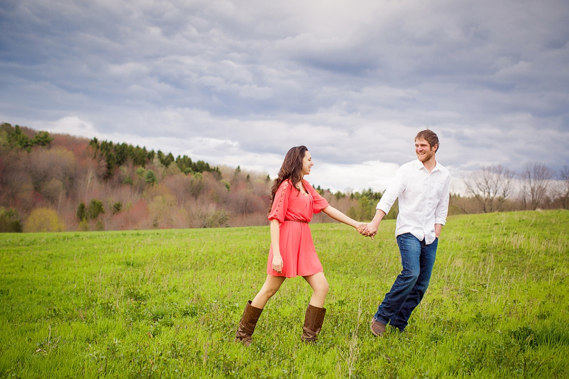 mountain top engagement photos Schulykill county