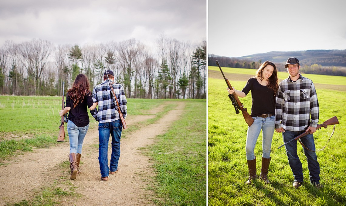 engagement photos with guns schulykill county pa