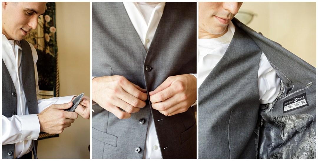 groom getting ready detail photos