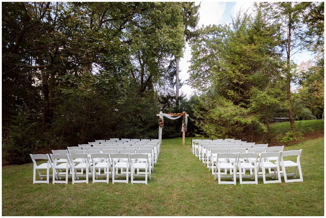 outdoor ceremony in reading pa