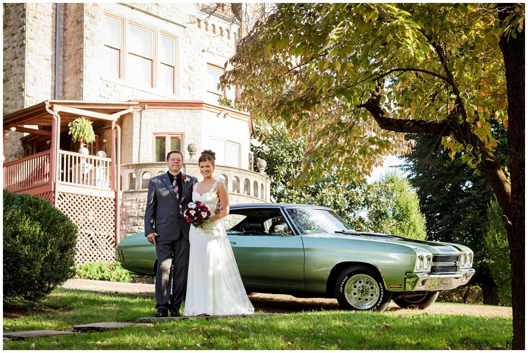 chevelle and father with bride