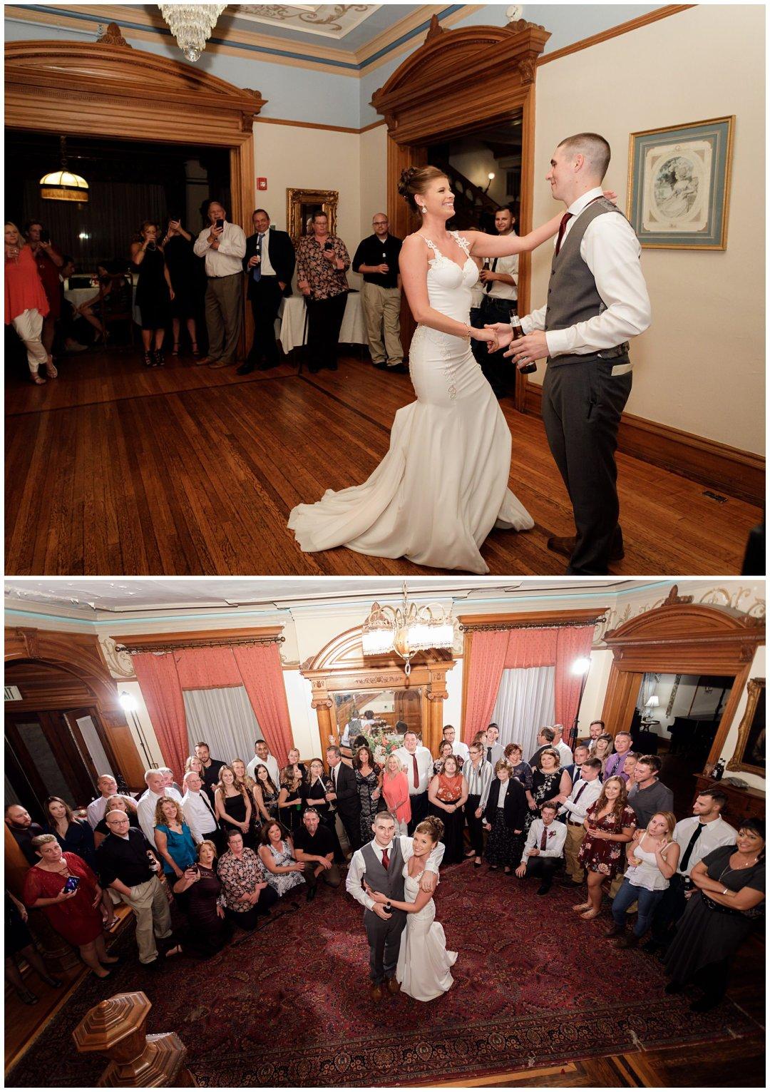 bride and groom dancing the night away