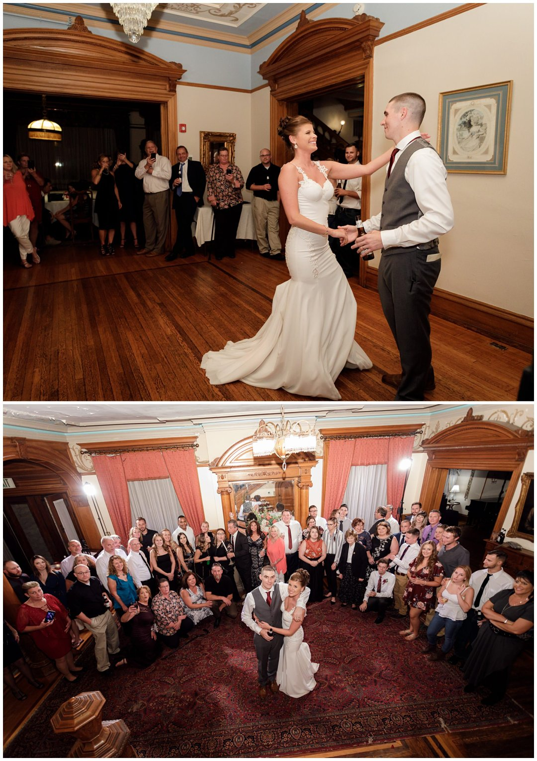 bride and groom dancing the night away