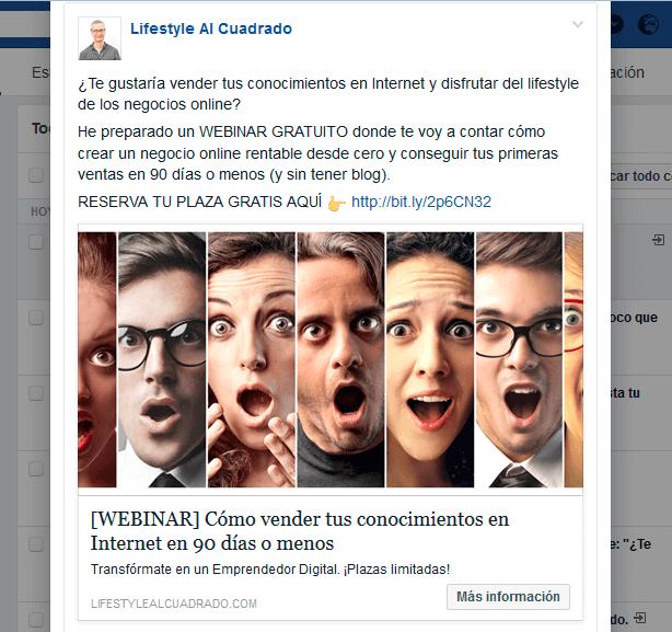 anuncio dos facebook ads