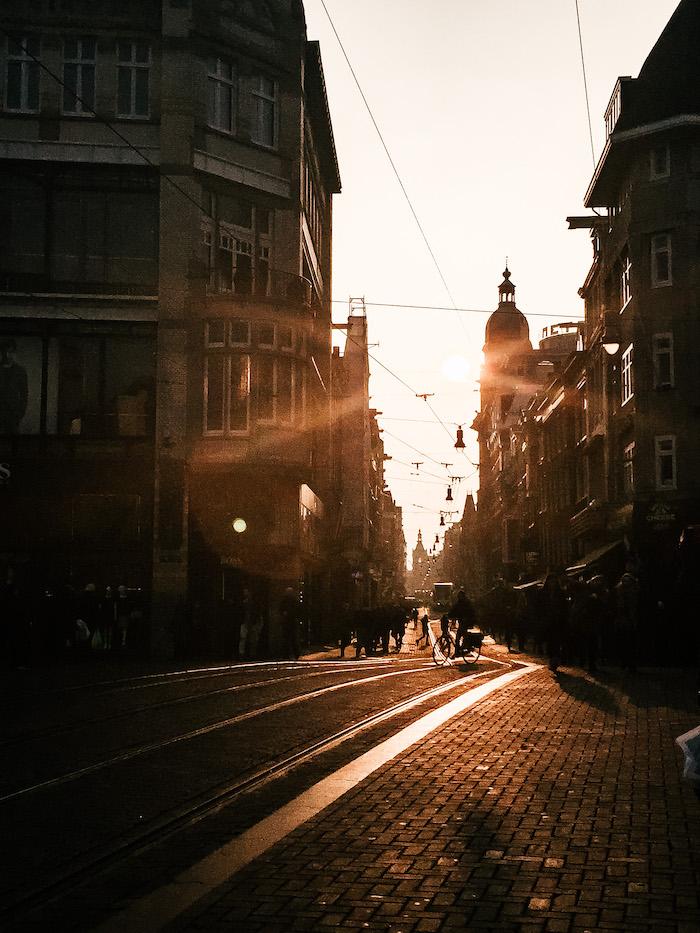 Amsterdam Sunset City