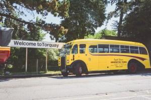 Bus at Torquay train station