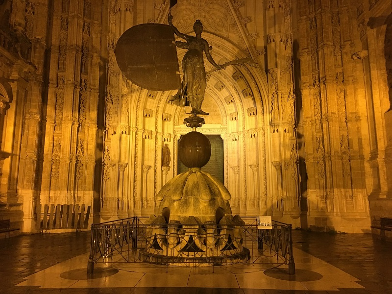 Triumph of Faith statue at Seville Cathedral