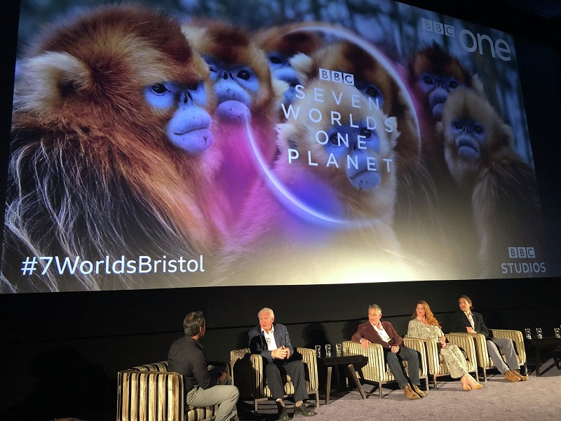 Sir David Attenborough at Seven Worlds, One Planet screening in Bristol