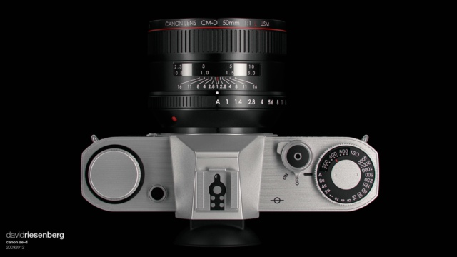Canon mirrorless camera concept by David Riesenberg