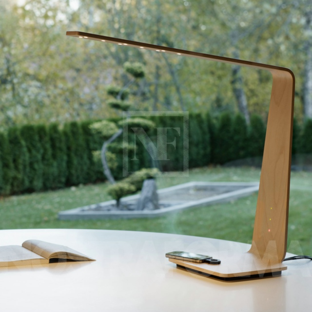 Tunto LED 8 PowerKiss table lamp with wire-free charging station