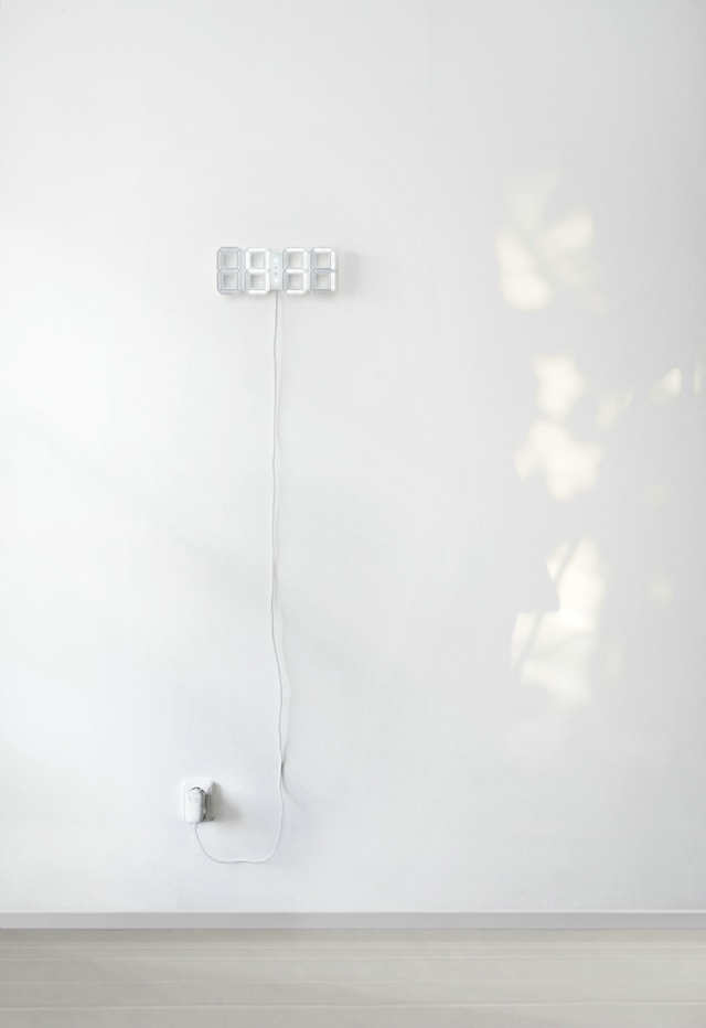 White & White Clock by Vadim Kibardin