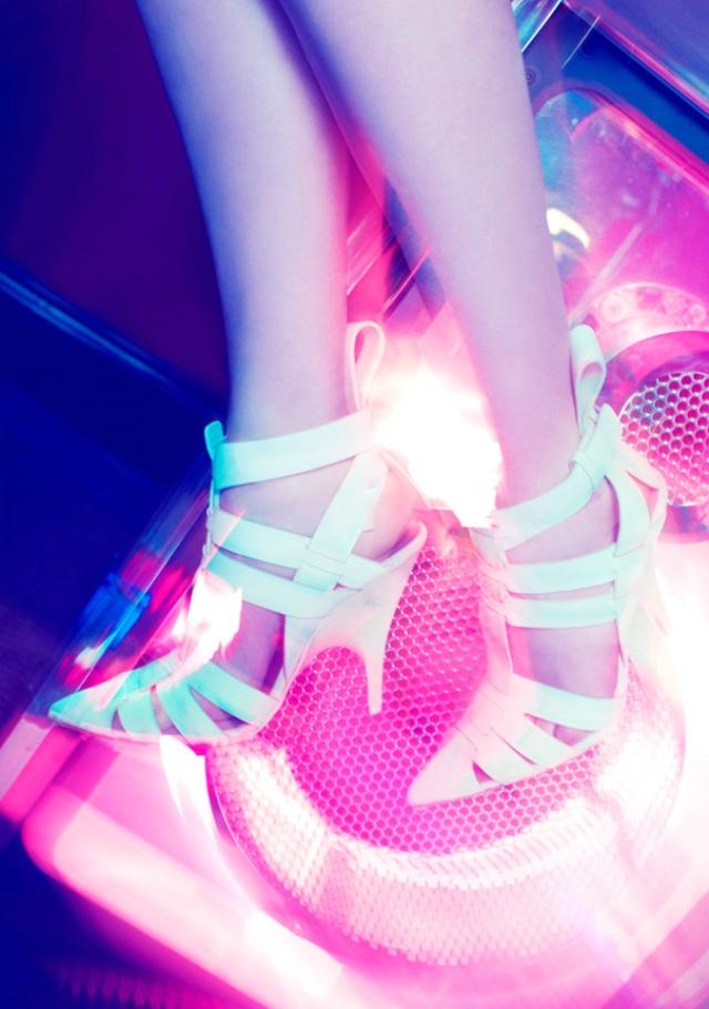 Alexander Wang White Danica Woven Heels
