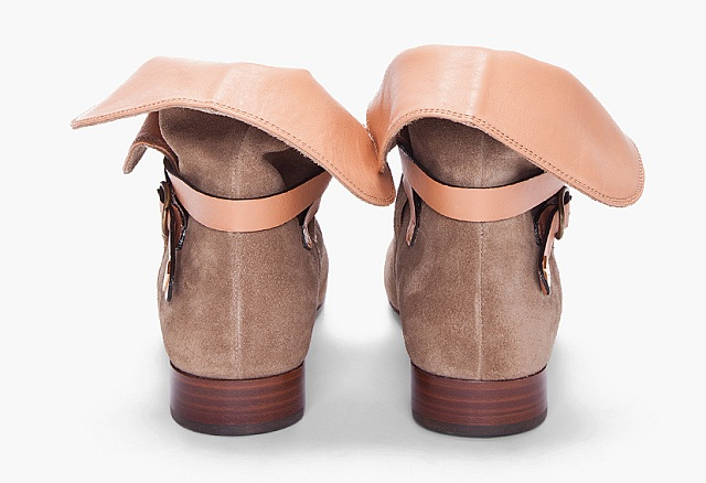 Chloe Taupe Suede Ankle Boots