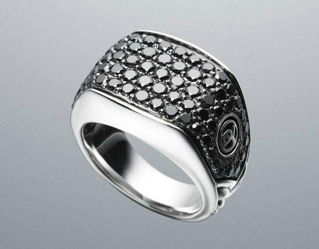 Black Diamond Chevron Ring by David Yurman