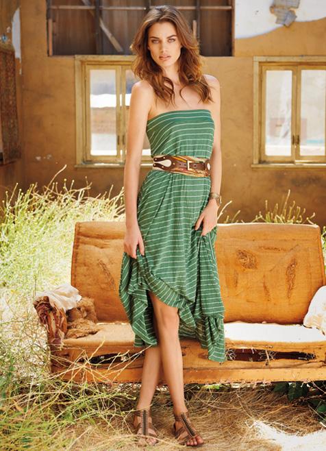 Highline Stripe Convertible Skirt by Michael Stars