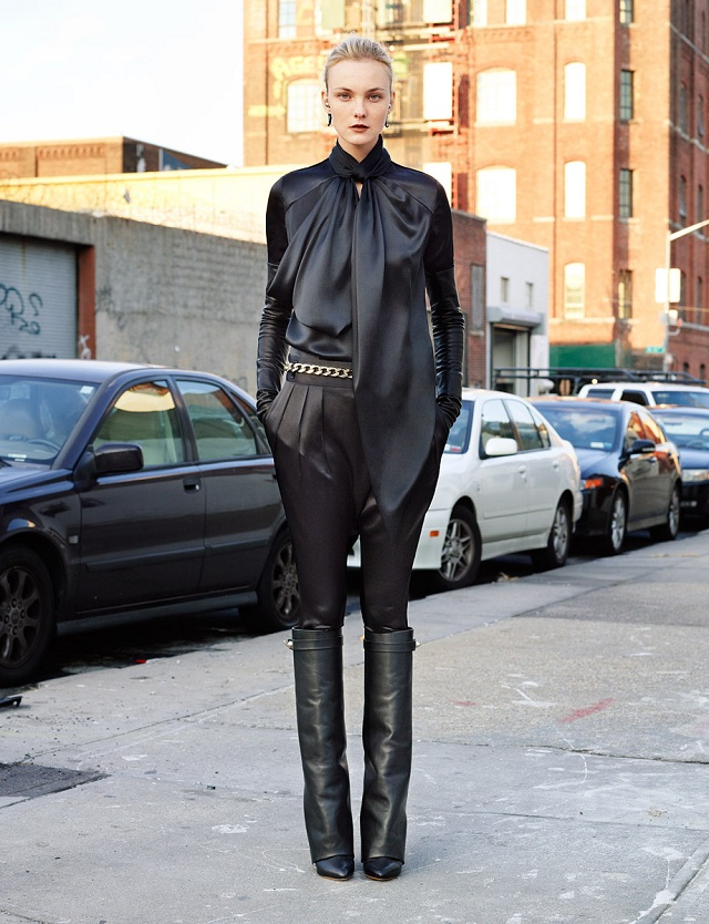 Givenchy Black Nappa Leather Shark Tooth Boots