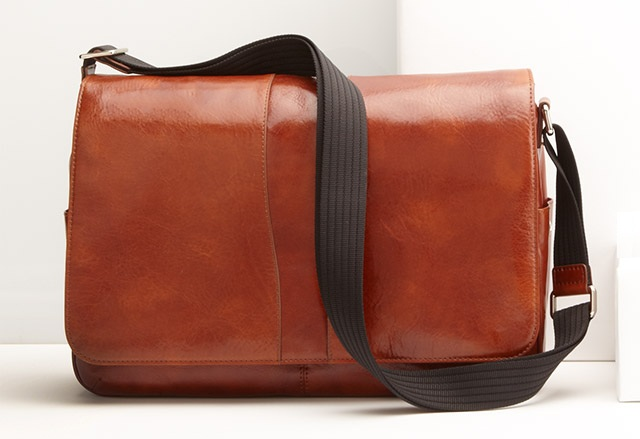 Bosca Messenger Bag, Dark Brown