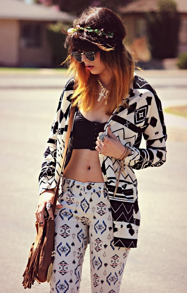 Nollie Long Sleeve Print Dolman Cardigan