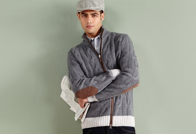 Gran Sasso Men's Cable Knit Cardigan
