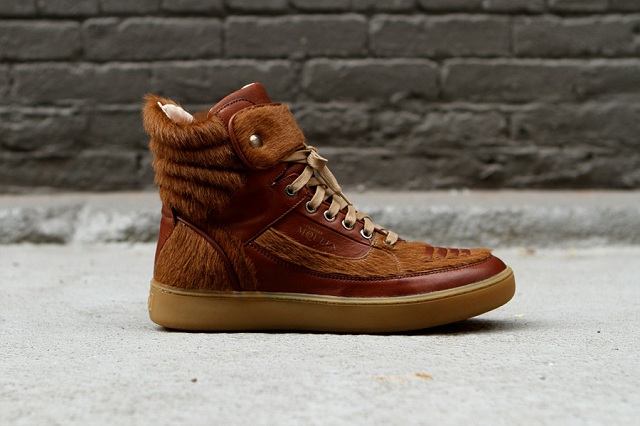 Puma By Alexander Mcqueen Joust Brown Pony Hair Sneakers