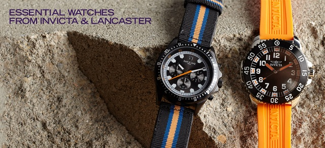 Essential Watches from Invicta & Lancaster at MYHABIT