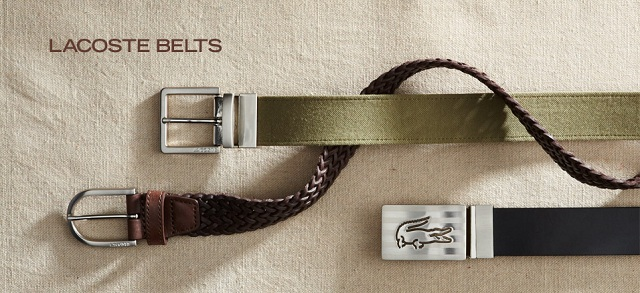 Lacoste Belts at MYHABIT