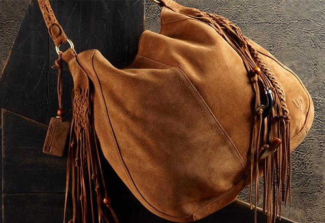 Linea Pelle Women's Suede Shoulder Bag