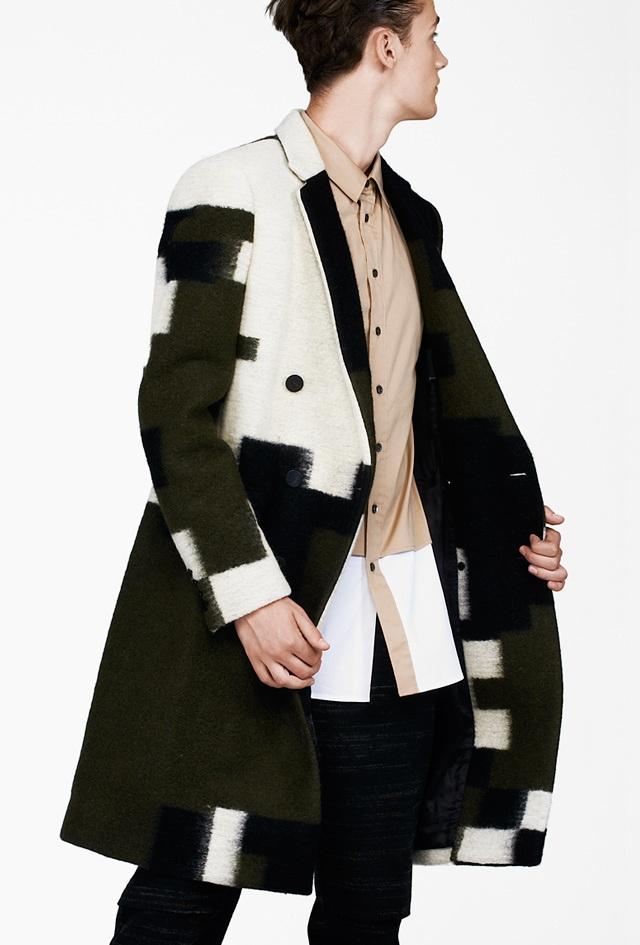 3.1 Phillip Lim Olive Combo Brindle Gentlemens Coat