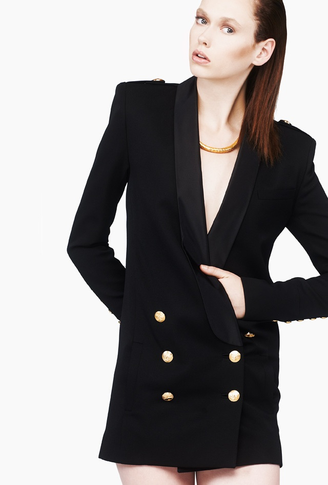 Balmain Black Blazer Dress