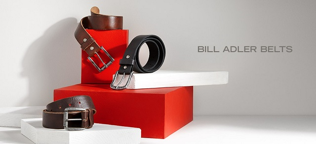 Bill Adler Belts at MYHABIT
