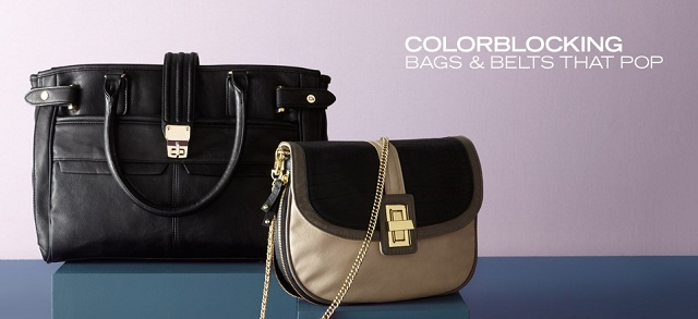 Colorblocking: Bags & Belts That Pop at MYHABIT