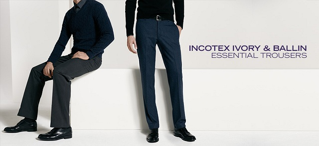 Incotex Ivory & Ballin: Essential Trousers at MYHABIT