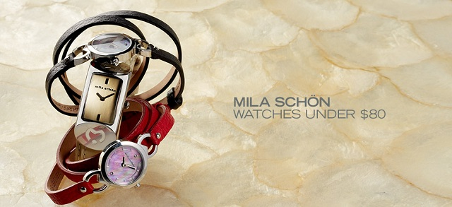 Mila Schön: Watches Under $80 at MYHABIT