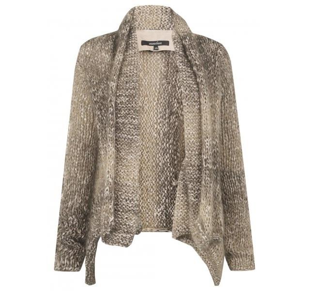 Muubaa Praia Knitted Suede Wool Cardigan