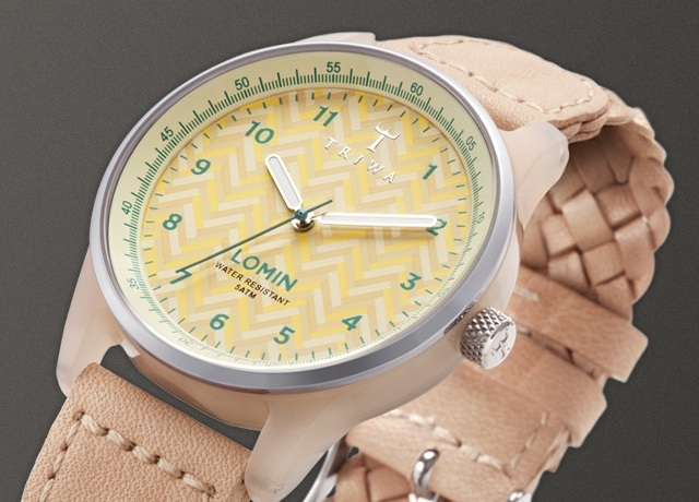 TRIWA beige Chevron Lomin Watch