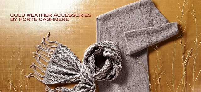 Cold Weather Accessories by Forte Cashmere at MYHABIT