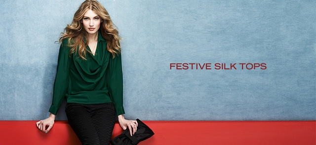Festive Silk Tops at MYHABIT