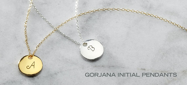 Gorjana Initial Pendants at MYHABIT