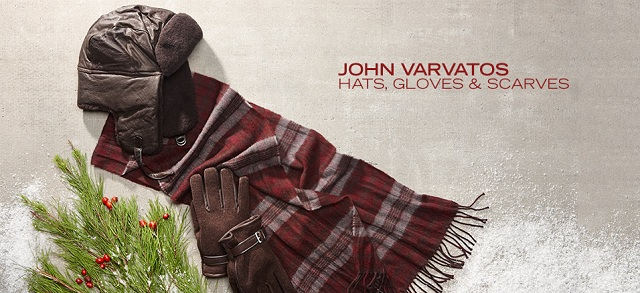 John Varvatos: Hats, Gloves & Scarves at MYHABIT