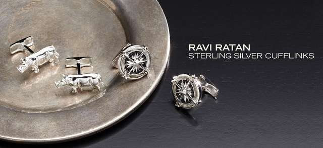 Ravi Ratan: Sterling Silver Cufflinks at MYHABIT