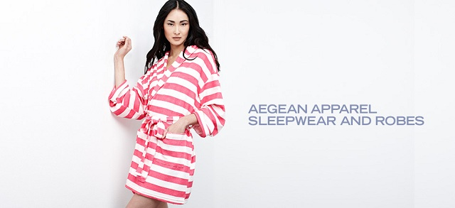 Aegean Apparel Sleepwear and Robes at MYHABIT