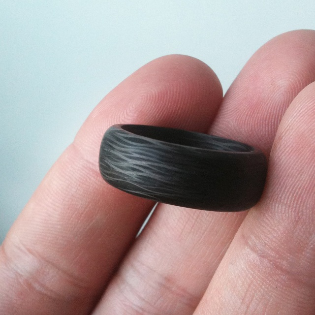 Black Badger Sidecut Solid Carbon Fiber Ring_1