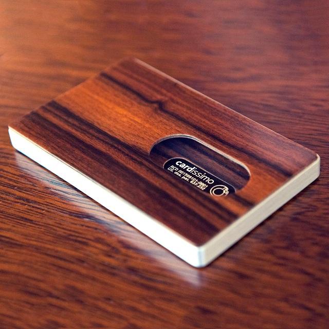 Cardissimo Hardwood Card Case  Santos Palisander_1