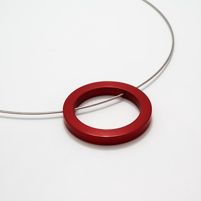Filip Vanas / Aluminum Circle Pendant w/ Steel Cable