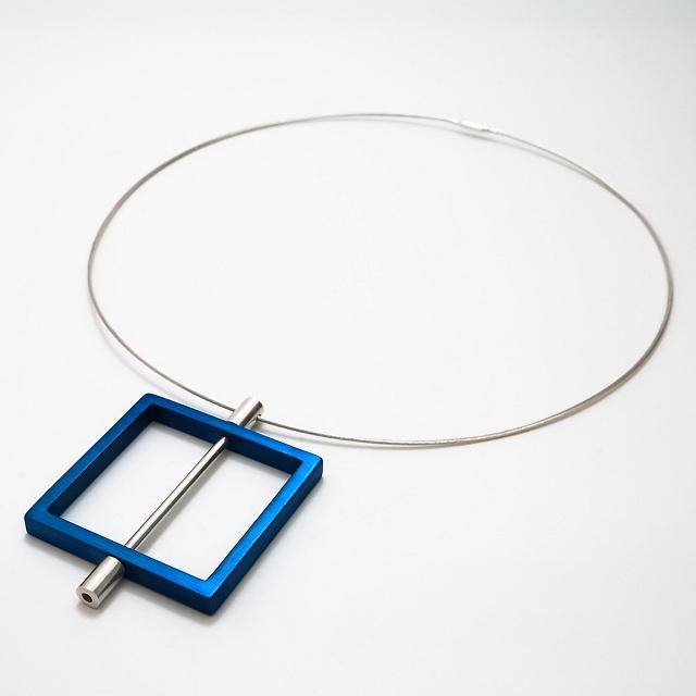 Filip Vanas / Aluminum & Silver Pendant // Square