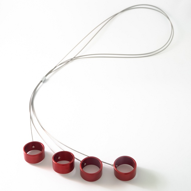 Filip Vanas / Long Aluminum Necklace w/ Circles_2