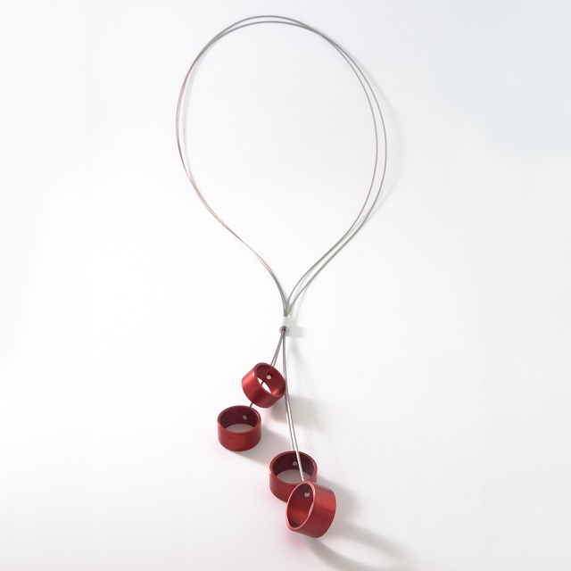 Filip Vanas / Long Aluminum Necklace w/ Circles_3